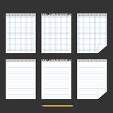 Notebook. Set of sheets of paper. Royalty Free Stock Images