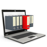 Notebook Seven Folders Red Folder Stock Photography