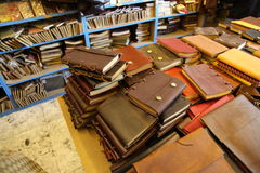 Notebook shop Stock Photography