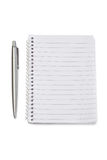 Notebook and silver pen Royalty Free Stock Image