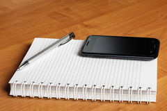 Notebook and smartphone Stock Photo