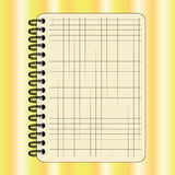 Notebook. On special yellow and white background Royalty Free Stock Image
