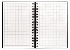 Notebook with spiral binder Open book white background Royalty Free Stock Photo