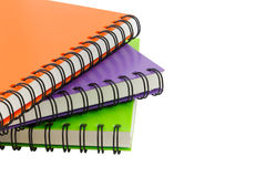 Notebook spiral bound isolated and white background Stock Images