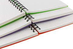 Notebook spiral bound isolated and white background Stock Photography
