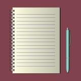 Notebook on a spiral Stock Photos