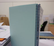 Notebook with spiral spine Royalty Free Stock Images
