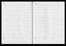 Notebook spread Royalty Free Stock Photo