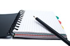 Notebook with a spring and penci Royalty Free Stock Photography