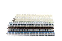 Notebook stack. With pen,stationery royalty free stock image