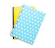 Notebook stack on white background. Royalty Free Stock Image
