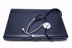 Notebook and stethoscope Royalty Free Stock Photography