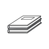 Notebook study educational icon thin line Royalty Free Stock Images