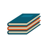 Notebook study educational icon Stock Images