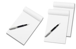 Notebook with stylish pen Royalty Free Stock Image