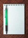 Notebook with stylus Royalty Free Stock Photos
