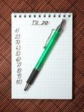 Notebook with stylus stock photos