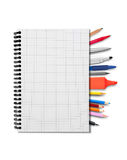 Notebook and suplies Royalty Free Stock Images