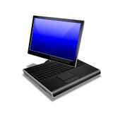Notebook Tablet PC blue. Drawing of a notebook tablet PC Royalty Free Stock Photos