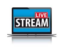 Notebook Live Stream Stock Photo