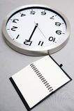 Notebook and time Royalty Free Stock Photos