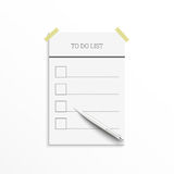 Notebook with to do list. Royalty Free Stock Photo