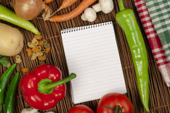 Notebook to write recipes Stock Photo