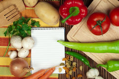 Notebook to write recipes Royalty Free Stock Photo