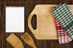 Notebook to write recipes Royalty Free Stock Image