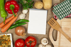 Notebook to write recipes Royalty Free Stock Images