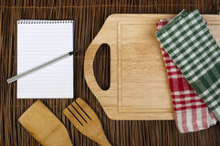 Notebook to write recipes Stock Images