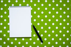 Notebook to write recipes Royalty Free Stock Photography