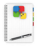 Notebook training concept Stock Images