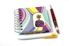 Notebook and two pens Royalty Free Stock Photography