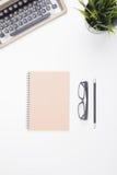 Notebook and typewriter Royalty Free Stock Image