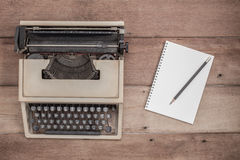 Notebook and typewriter Royalty Free Stock Photo