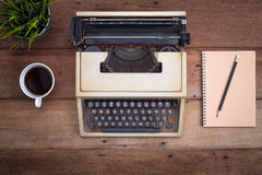 Notebook and typewriter Stock Images