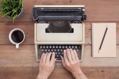 Notebook and typewriter Stock Image