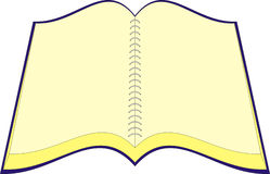 Notebook, vector. Open notebook, vector illustration Stock Photo