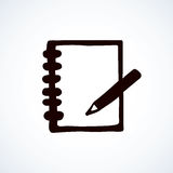 Notebook. Vector drawing Stock Images