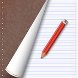 Notebook vector illustration Royalty Free Stock Images