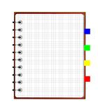 Notebook weekly, background for a design Royalty Free Stock Image