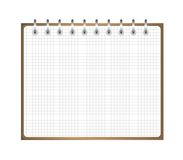 Notebook weekly, background for a design Stock Image