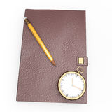 Notebook  on white Royalty Free Stock Photo