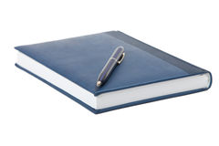 Notebook on a white background. Royalty Free Stock Photo