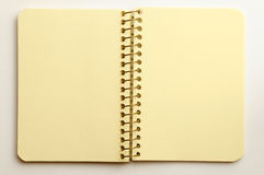 Notebook on a white background. Notebook opened for records Stock Photo