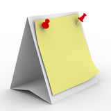 Notebook on white background Stock Images