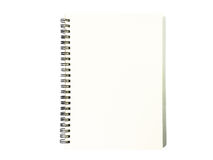 Notebook on white background. Black notepad. Notebook on white background. Black notepad top view stock image