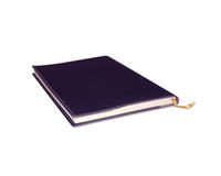 Notebook  on white with clipping path. Royalty Free Stock Photo