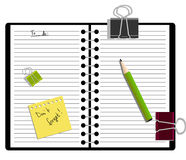Notebook With A Pencil Royalty Free Stock Photo